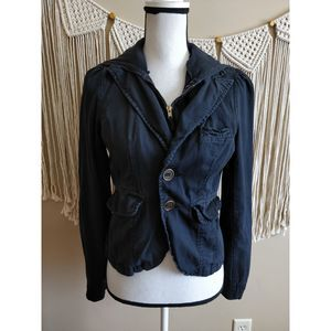 Anthropologie Hei Hei Black Hooded Denim Jacket 2